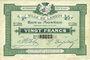 Billets Lannoy (59). Ville. Billet. 20 francs, 4e série
