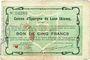 Billets Laon (02). Caisse d'Epargne. Billet. 5 francs 31.3.1915