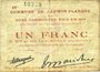 Billets Lauwin-Planque (59). Commune. Billet. 1 franc 1914