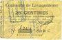 Billets Lavaqueresse (02). Commune. Billet. 25 centimes 15.6.1915, série C