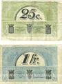 Billets Le Puy (43). Chambre de Commerce. Billets. 25 centimes, 1 franc 10.10.1916, série C