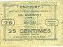 Billets Le Quesnoy (59). Ville et Etablissements Charitables. Billet. 25 centimes mars 1915