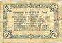 Billets Lécluse (59). Commune. Billet. 2 francs, série A, cachet 6 Fev 1916