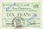 Billets Lens (62). Ville. Billet. 10 francs 21.12.1915, deux cachets ANNULE à l'avers et un au revers...
