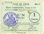 Billets Liévin (62). Ville. Billet. 1 franc 31.1.1915, série D1