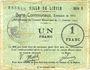 Billets Liévin (62). Ville. Billet. 1 franc 31.1.1915, série D