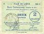 Billets Liévin (62). Ville. Billet. 2 francs 31.1.1915, série C1