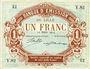 Billets Lille (59). Banque d'Emission. Billet. 1 franc 12.3.1915, série Y