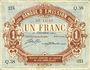 Billets Lille (59). Banque d'Emission. Billet. 1 franc 30.12.1914, série Q