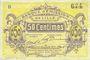 Billets Lille (59). Banque d'Emission. Billet. 50 cmes janvier 1915, série B