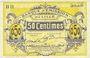 Billets Lille (59). Banque d'Emission. Billet. 50 cmes janvier 1915, série BH