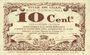 Billets Lille (59). Ville. Billet. 10 cmes 31.10.1917, série C