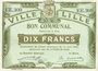Billets Lille (59). Ville. Billet. 10 francs 31.8.1914, série EE