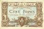 Billets Lille (59). Ville. Billet. 100 francs 11.4.1917, série K, annulation par double perforation