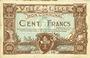 Billets Lille (59). Ville. Billet. 100 francs 13.7.1917, série V