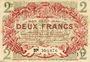 Billets Lille (59). Ville. Billet. 2 francs 15.12.1917, série I