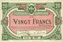 Billets Lille (59). Ville. Billet. 20 francs 13.7.1917, série T