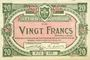 Billets Lille (59). Ville. Billet. 20 francs 15.12.1917, série P