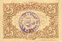 Billets Lille (59). Ville. Billet. 25 cmes 13.7.1917, série A