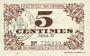 Billets Lille (59). Ville. Billet. 5 cmes 31.10.1917, série B