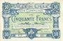 Billets Lille (59). Ville. Billet. 50 francs 28.11.1916, série Y