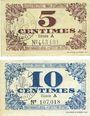 Billets Lille (59). Ville. Billets. 5 cmes, 10 cmes 31.10.1917, série A