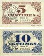 Billets Lille (59). Ville. Billets. 5 cmes, 10 cmes 31.10.1917, série C