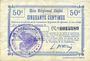 Billets Longchamps (02). Billet. B.R.U., 50 centimes