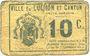 Billets Luchon (31). Ville et Canton. Billet. 10 centimes