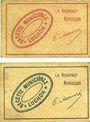 Billets Luchon (31). Ville et Canton. Billets. 5 centimes, 10 centimes