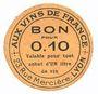 Billets Lyon (69). Aux vins de France. Billet. 10 centimes