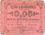 Billets Marchiennes (59). Ville. Billet. 5 centimes. Carton rose