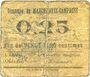 Billets Marchiennes-Campagne (59). Commune. Billet. 25 centimes