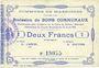 Billets Masnières (59). Commune. Billet. 2 francs 16.4.1915