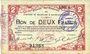Billets Maubeuge & Solre-le-Château (59). Syndicat des Communes. Billet.  2 francs 11.3.1915