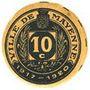 Billets Mayenne (53). Ville. Billet. 10 centimes