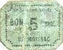 Billets Moissac (82). Union Commerciale. Billet. 5 centimes