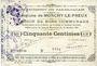 Billets Monchy-le-Preux (62). Commune. Billet. 50 cmes 24.10.1915, 3e série