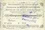 Billets Monchy-le-Preux (62). Commune. Billet. 50 cmes 27.7.1915, 2e série. Cachet de la perception d'Amiens