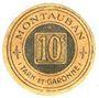 Billets Montauban (82). Fédération des Commerçants et Industriels. Billet. 10 centimes