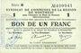 Billets Montmédy (55). Syndicat de Communes de la région de Montmédy. Billet. 1 franc 5 et 7.7.1916, série B