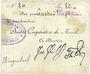 Billets Moosch (68). Société coopérative de Moosch. Billet. 80 francs (fin 1914)