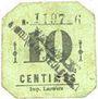Billets Mouvaux (59). Ville. Billet. 10 centimes, cachet en 2 lignes