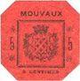 Billets Mouvaux (59). Ville. Billet. 5 centimes, rouge, cachet rond