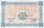 Billets Mulhouse (68). Ville. Billet 1 franc 18.12.1918. Série G