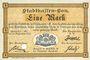Billets Mulhouse (68). Ville. Billet 1 mark 10.9.1914. Annulé par perforation
