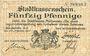 Billets Mulhouse (68). Ville. Billet 50 pfennig 27.01.1917. Non annulé