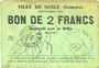 Billets Nesle (80). Ville. Billet. 2 francs
