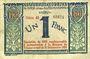 Billets Nice (06). Chambre de Commerce. Billet. 1 franc 1920 surchargé sur 25.4.1917, série 43