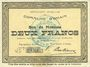 Billets Ohain (59). Commune. Billet. 2 francs 31.3.1915